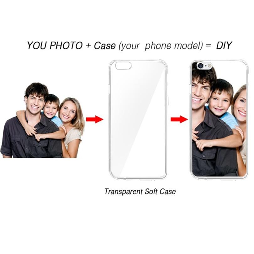 Pour iPhone XR XS XS Max 4 4S 5 5S SE 6 6S 6 7 8 Plus sac de couverture de téléphone portable boîtier de téléphone portable masque de peau bricolage personnalisé