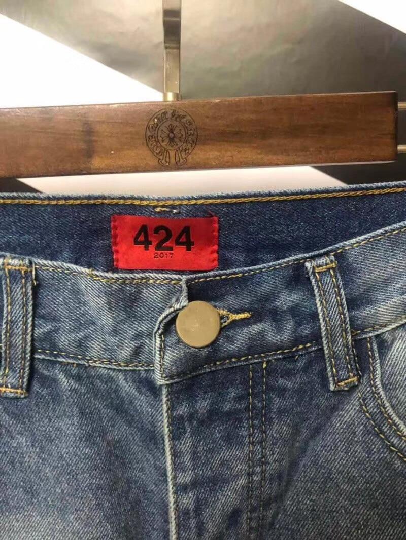 Hommes Skinny 424 Qualité Quatre Denim Fit Slim 1 1 Pantalon Casual Brouillard Mode Jeans Deux Haute Détruite Vintage Déchiré H58FwqR8Pr