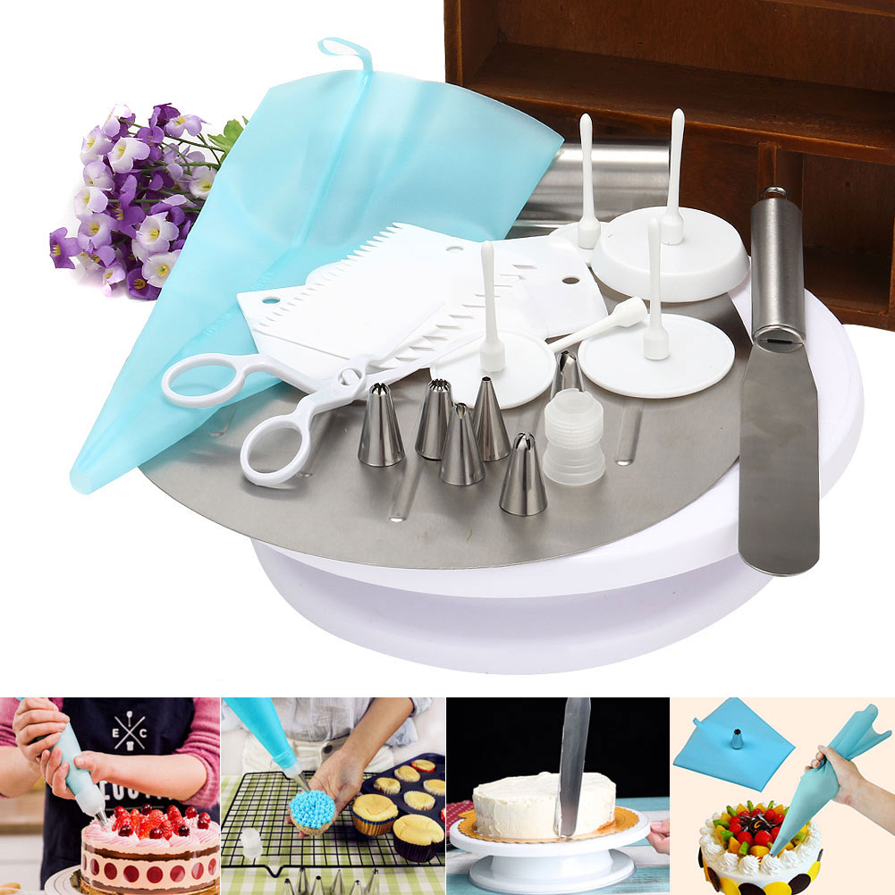 1 Set Cake Decorating Supplies Cake Decorating Supplies Bakeware Tools Kit Sets HY99 OC19 hq ss10 cake making and decorating turntable baking tool rotating table of cake show display stand