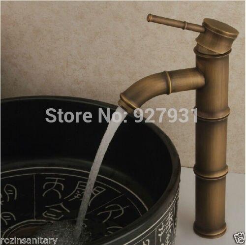 New Arrive Bamboo Shape Single Handle Bathroom Basin Mixer Faucet Retro Style Deck Mounted Basin Faucet