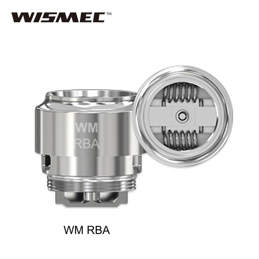 Original WISMEC WM RBA Head For Gnome Tank WM Rba Coil Head Build Dual Coils With Huge Vapor & Nice Flavor E-cig Vaporizer Head