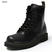 Women Fashion Ankle Boots Lace Up Flats Casual Shoes Martin Boots For Winter Autumn Spring Zq01
