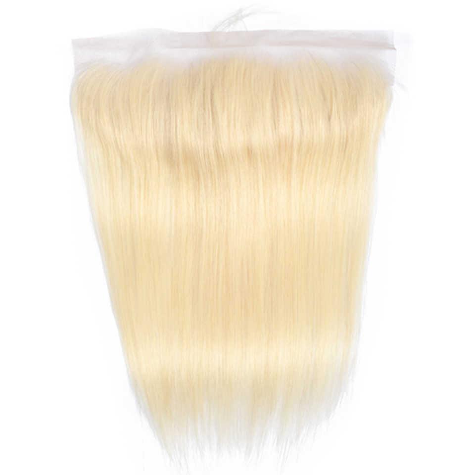 Красота Grace бразильский прямо закрытие 4x4 дюйма Бесплатный Часть Кружева Закрытие Номера для человеческих волос 613 блондинка закрытие с ребенком волос