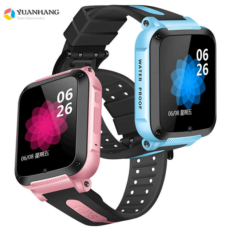IP67 Waterproof Smart GPS Location SOS Call Remote Monitor Camera Wristwatch Tracker Kids Child Students Bluetooth Music Watch