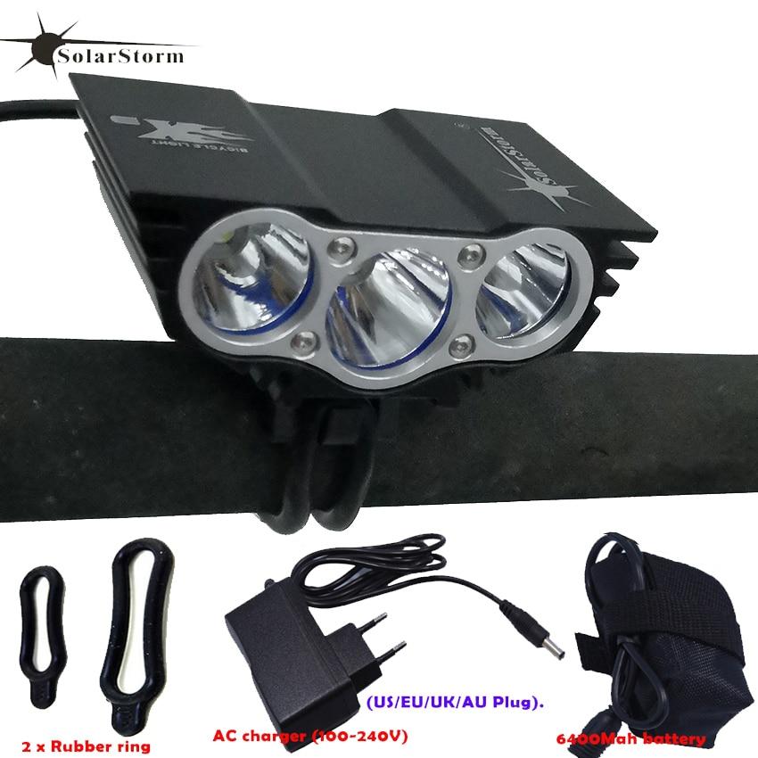 Batterie Rechargeable 3xT6 LED étanche Luz Par vélo lumière avant vélo phare 4 Modes sécurité nuit vélo lampe cadre