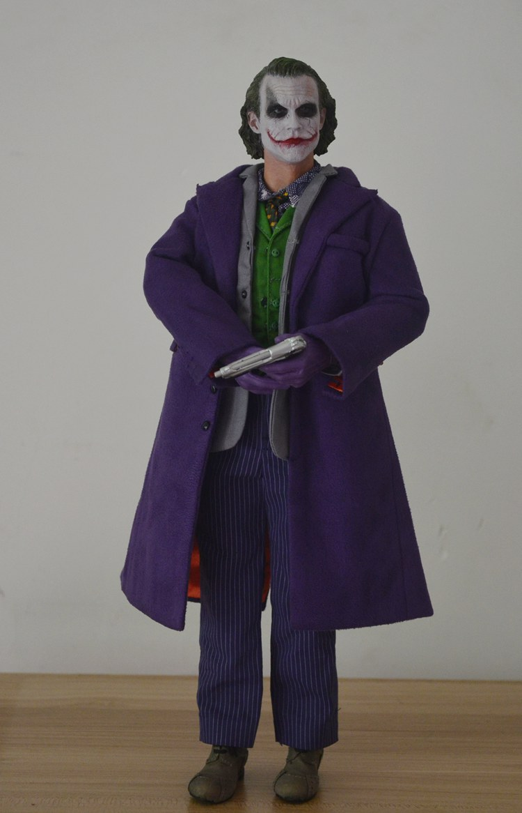 1:6 scale Super flexible male figure Batman JOKER Heath Ledger 12 action figure doll Collectible Model Plastic toys MJ12 No box 1 6 scale figure doll black detective 12 action figure doll collectible figure plastic model toys no box