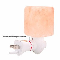LumiParty EU US Himalayan Salt Lamp Natural Crystal Salt NightLight Hand Carved Wall Lamp With Plug