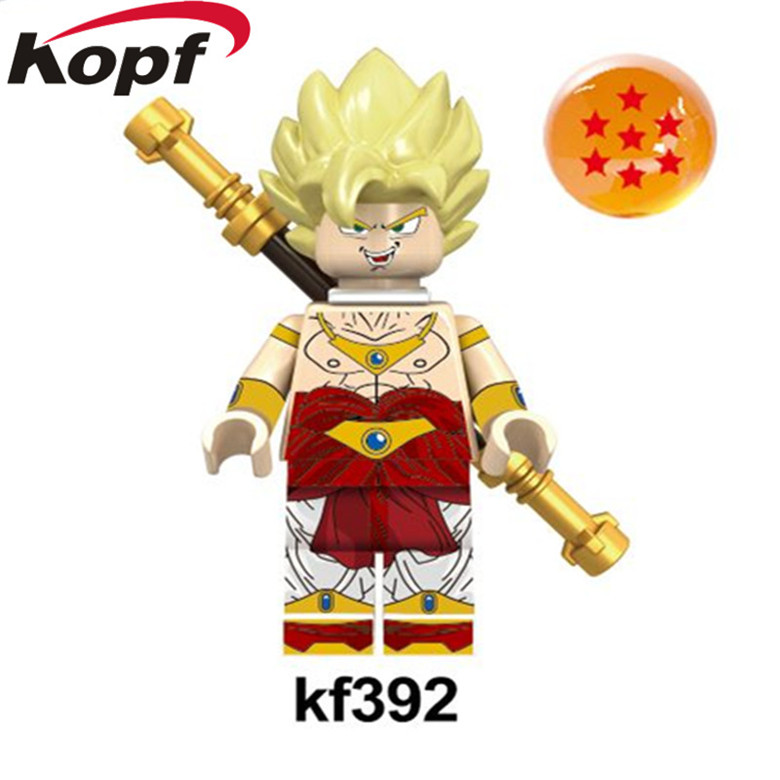 Single Sale Building Blocks Dragon Ball Z Figures Broly Super Sayayin Black Goku Vegeta Dolls Bricks Children Gift Toys KF392 jlb 33901 33906 dragon ball z son goku vegeta master roshi minifigures toys building blocks sets model bricks figures legoelieds page 5