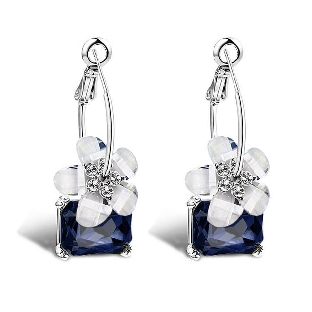 Mode braut exquisite 3 color kristall bunte weiße blume lange ...