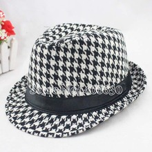 winter plaid fedoras mens hats, chapeu masculino, dress mens panama hats, Jazz cap, 10pcs/lot, free shipping