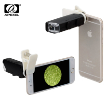 Apexel Universal Clip Jewelry LED 100X Microscope Magnifier for Smart Phones