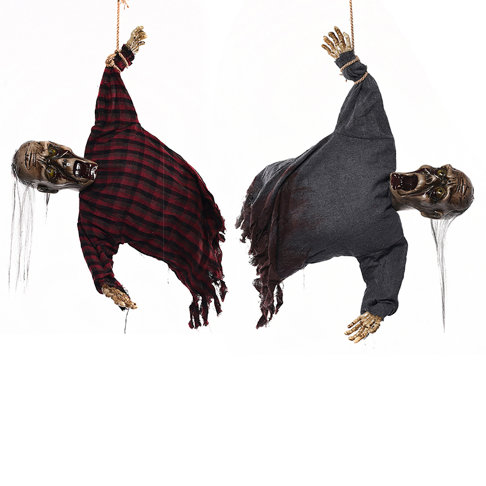 Halloween Props Horror Hanging Ghost Sound Witch Scary