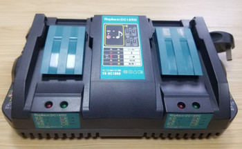 Dual Fast Charger for Li-ion Battery Makita DC18RD 14.4/18V DC18RC DC18SF with Music Aging DC18RD T charger