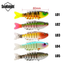 SeaKnight SK001 Jointed Bait Swimbait 19g 8cm 1PC Fishing Lure Sinking Lure 7 Section Multi Jointed Swim Bait River Lake Fishing