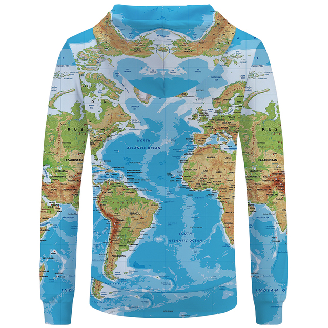 WORLD MAP 3D HOODIE