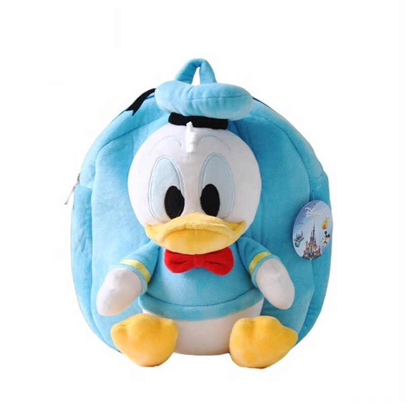 Disney mickey mouse saco 30 CM ombro saco De Pelúcia meninos e meninas das crianças Do Jardim de Infância início saco de Brinquedos de presente para crianças