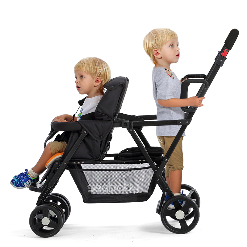 Portable Mutiple Baby Stroller Strollers For Twins Folding Travel Baby Carriages Pram Suit for Second baby Lying and Seat baby stroller carrinho de bebe folding portable stroller for newborns baby throne baby carriages easy carry travel strollers