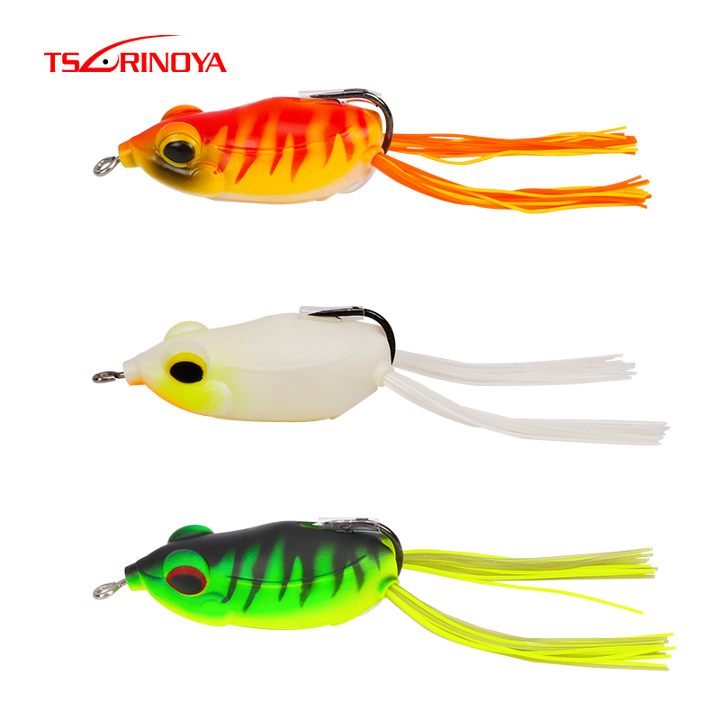 4pcs Plastic Frog Lures Soft Fishing Lure Topwater Freshwater Bait Tackle 5g//8cm