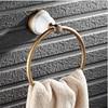 Towel Rack New Arrivals Luxury Brass Antique Copper And Ceramic Towel Ring Bathroom Towel Holder Towel