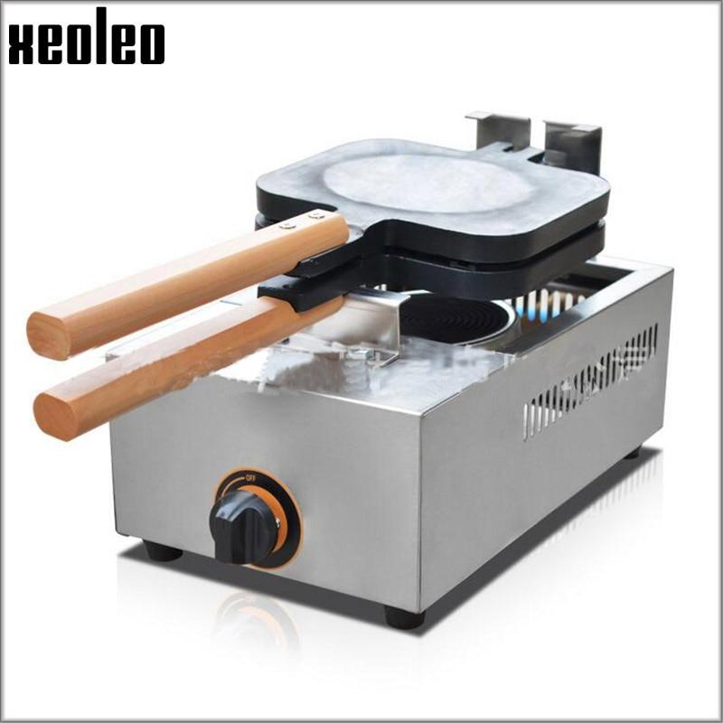 Xeoleo 4 Hot dog crisp machine Gas Maffen Hot dog maker Commercial Corn crisp Waffle maker Sausage type machine French waffle