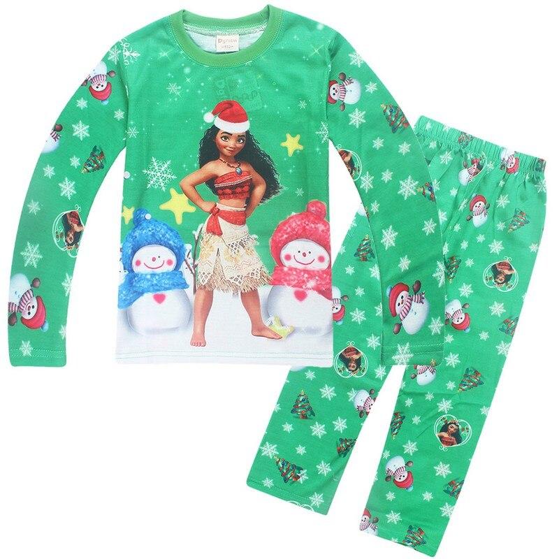Moana Kids Cosplay T shirt Pants Long Sleeve T-shirt Christmas Pajamas Children Home Clothing Sleepwear Set