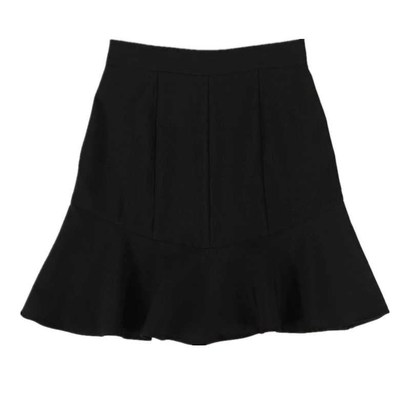 Cute Mini Skirts New Female Clothes Hot Women Korean Preppy Style Autumn Basic High Waist Black A Line Mini Skirt Hot Sales 149