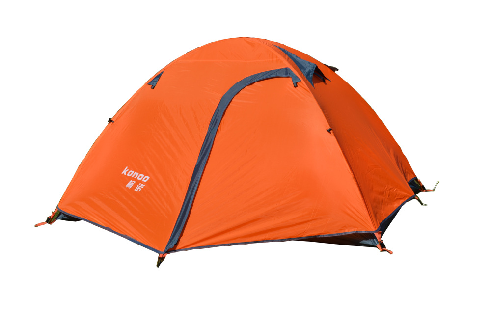 200*150 cm Water proof Camping Tent for 2 Person Four Season Outdoor Hiking Tent Aluminum Pole Double Layer Tourist Tent two person tent outdoor camping tent kit fiberglass pole water resistance with carry bag for hiking traveling 200x120x110cm