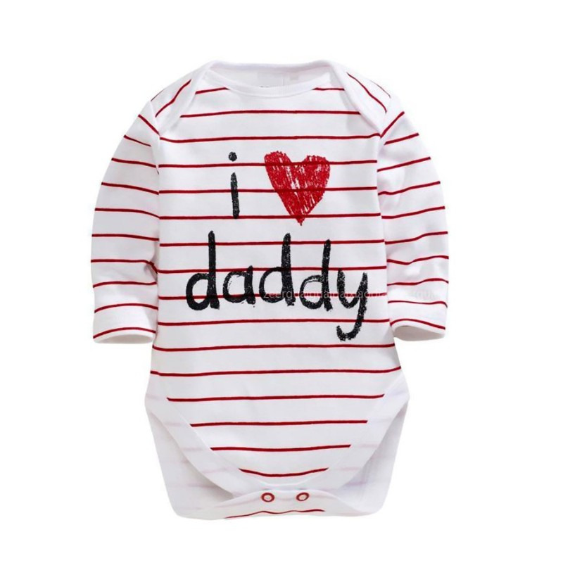 I Love Daddy I love Mommy Twin Baby Romper