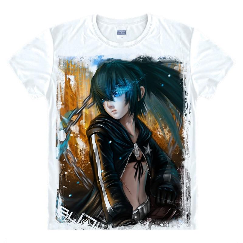 Black Rock Shooter T-Shirt Kagari Izuriha Shirt Fashion printed t-shirts Anime Collection kawaii dress summer t-shirt Japanese A