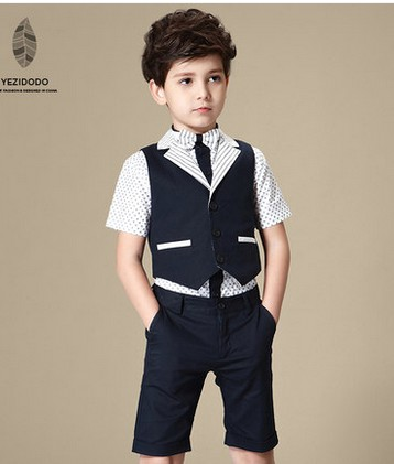 Boy child vest three-piece suit shirt shorts suit boy suit single boy