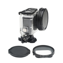 58mm UV filter for GoPro Hero 7 6 5 Black Waterproof Case with Lens Cover Adapter Mount Go Pro Accessory