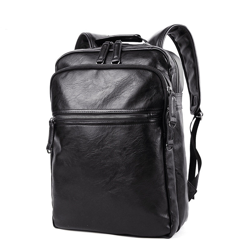 Designer Solid Color Casual Backpack Men Laptop Bag Fashion Plain Zipper  Travel Bag Fashion Business School Bag-in Backpacks from Luggage   Bags on  ... 27bd3a8ba6f86