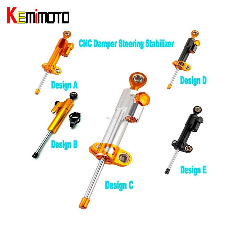 Prix pour KEMiMOTO MT07 MT09 YZF R3 R6 CNC Amortisseur de Direction StabilizerLinear Inversée sécurité Contrôle MT 09 MT 07 Vélo pour KTM pour Kawasaki
