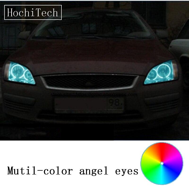 HochiTech for Ford Focus II Mk2 2004 2008 car styling RGB LED Demon Angel Eyes Kit