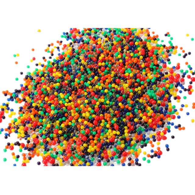 1000 Particles /lot water beads Pearl shaped Crystal Soil Water Beads Mud Grow Magic Jelly balls wedding Home Decor hydrogel