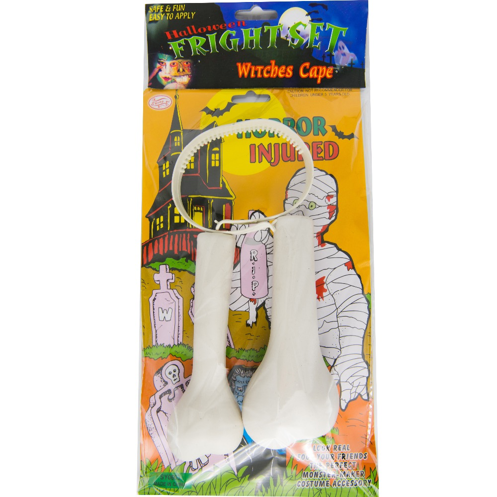Good Quality Tricky Prop Halloween and April Fools Day Prank Toy plastic bones Through Head Festival Party Accessories