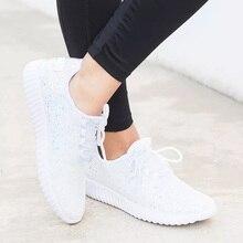 Bling Shoes Woman White Sneakers Zapatillas Mujer Plus Size Krasovki 2019 Fashio