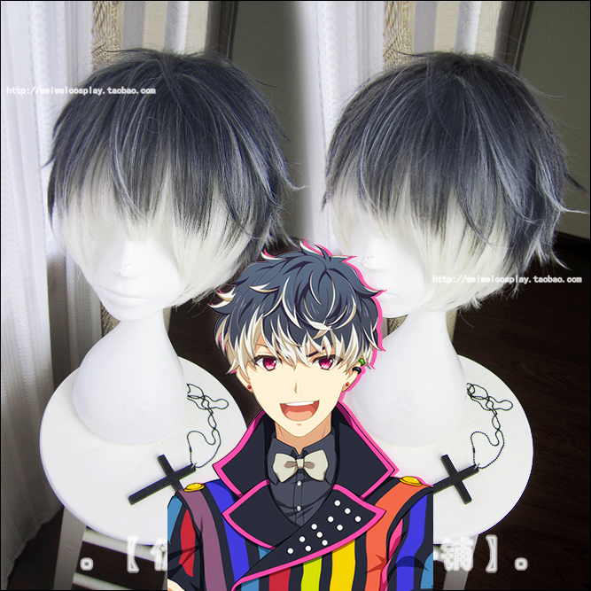 2018 Anime IDOLiSH7 Re:vale MOMO Short Mixed Colors Synthetic Hair for Adult Role Play Cosplay Wig