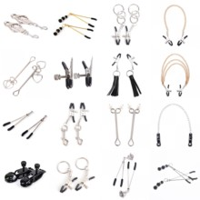 1 Pair Stainless Steel Metal Chain Nipple Milk Clips Clamps Breast Clip Sex Slaves Nipple Clamps Sex Toys For Couples
