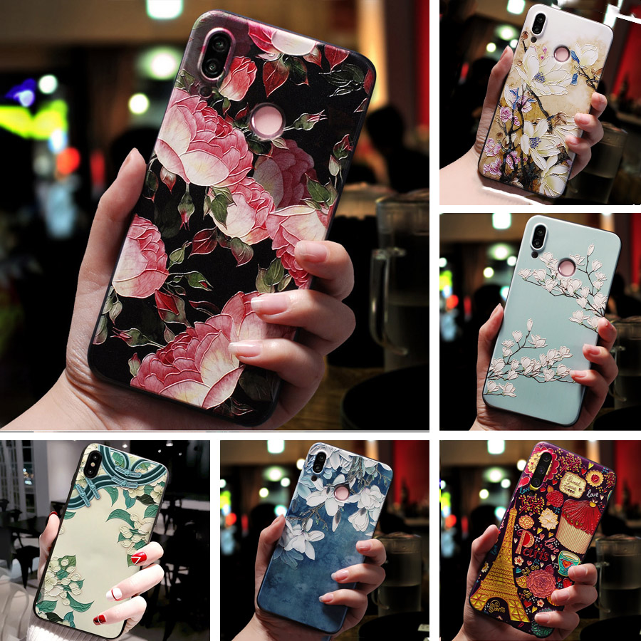 3D Relief Floral Phone <font><b>Case</b></font> For <font><b>OPPO</b></font> Realme X 3 pro Q A5S A1K A3S F11 Pro RX17 neo A7 AX7 <font><b>F9</b></font> F7 F5 A5 A9 2020 <font><b>Case</b></font> Silicon Cover image