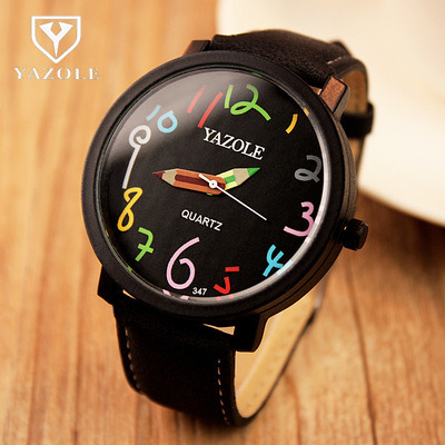 2017 YAZOLE watch Korean version of the big dial female students watch couple quartz wristwatches reloje mujer pen design Needle the impact of technology toward students performance