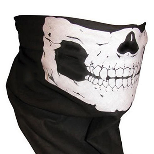 Skull Cycling Muffler Scarf Seamless Scarves Neck Warmer Half Face Mask skull style half face mask old silvery