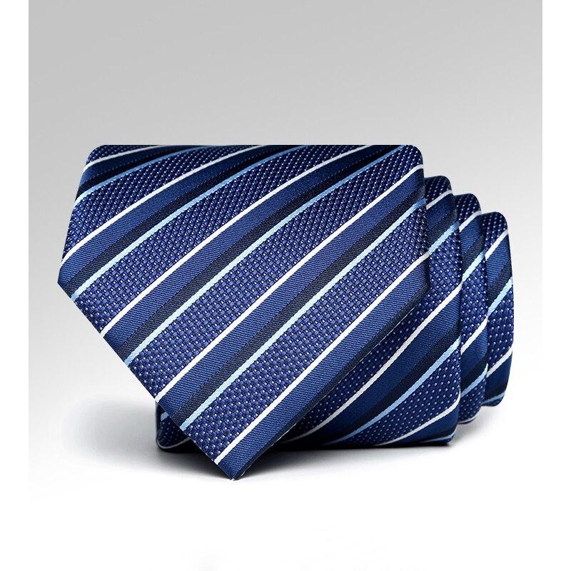 Aggressive Designer Drand Men's Tie Formal Business Wedding Classic Stripe 8cm Corbatas Fashion Shirt Dress Accessories Necktie Gift Box