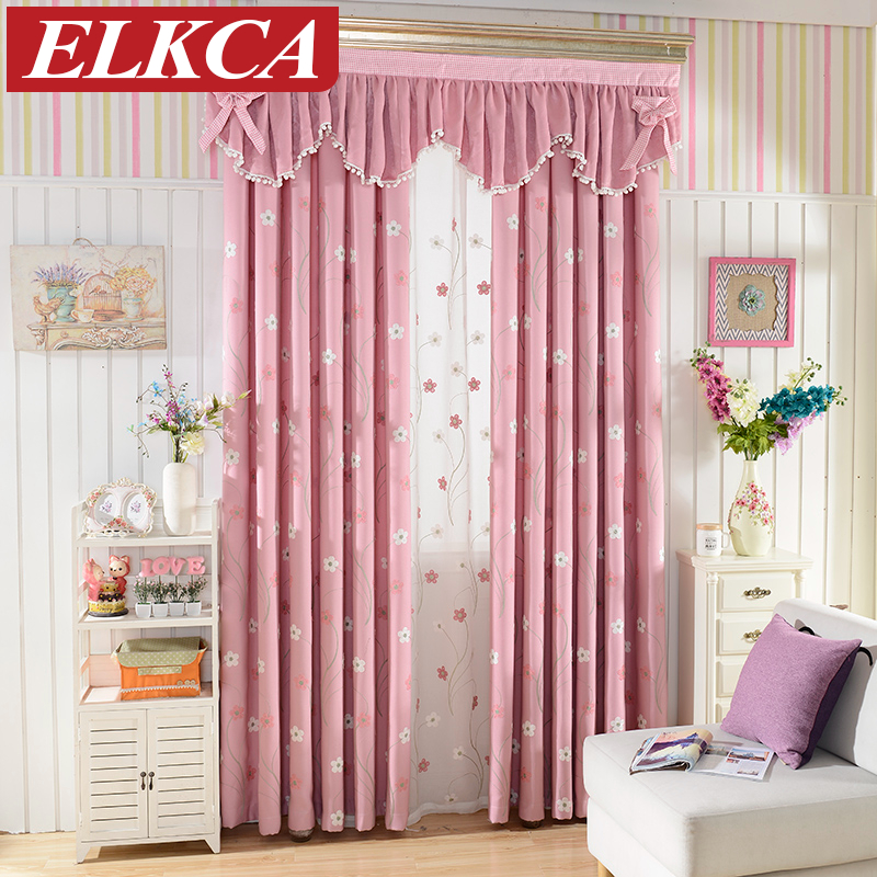 Floral Embroidered Pink Curtains for Living Room Princess Window Curtains  for Bedroom Curtains for Children Window. Popular Pink Curtains Buy Cheap Pink Curtains lots from China Pink