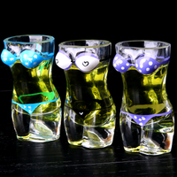 European-style Pure Color Creative Beer Glass Bar White Wine Cup Body Sexy Cup Beauty Hero Mug Free Shipping