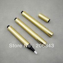 NUEVO: 3 ml oro pluma cosmética clic para crema de brillo de labios/mascara/Pestañas de crecimiento líquido tubo o envase cosmético