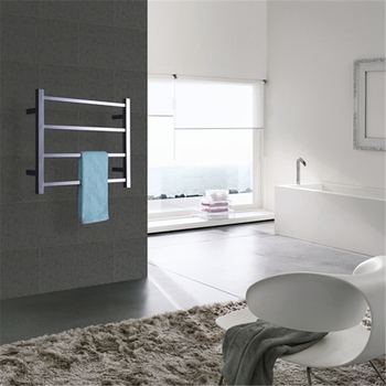 Envío Gratis nuevo 304 # tubo cuadrado de acero inoxidable calentador de toallas eléctrico/secador de toallas para baño HZ-945