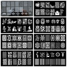 1Pc NEW Nail Stamping Plates Stainless Steel Image JR (1-30) Art Manicure Template Stamp 30 Styles