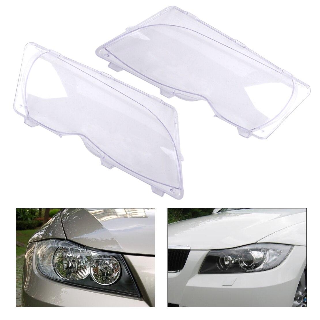 CITALL 63126924045 63126924046 2pcs Clear Headlight Lamp Lens Cover for BMW 3 Series E46 325i 325xi