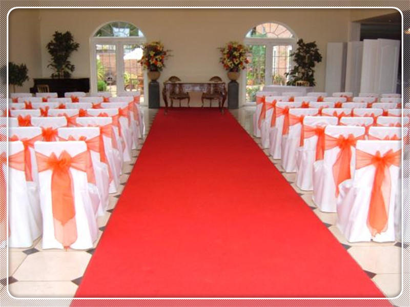 100pcs orange dining chair covers sashes chair bow banquet chair